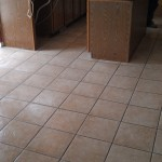 "13"" x 13"" ceramic tile over Du Rock tile membrane"