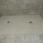 New ceramic tile floor