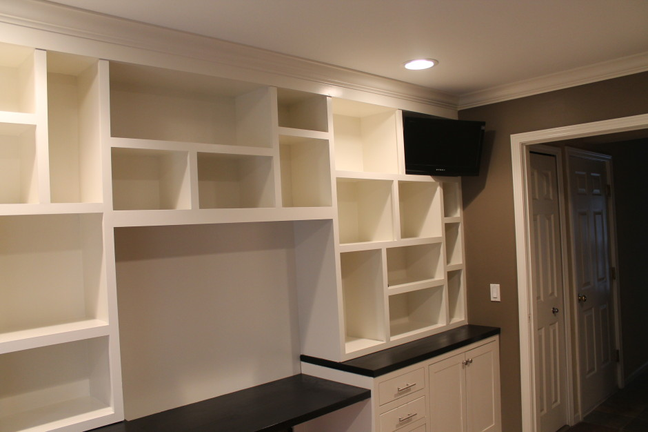 custom built in office cabinets landmark contractors