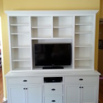 Front view of our latest custom project. A built in entertainment unit.