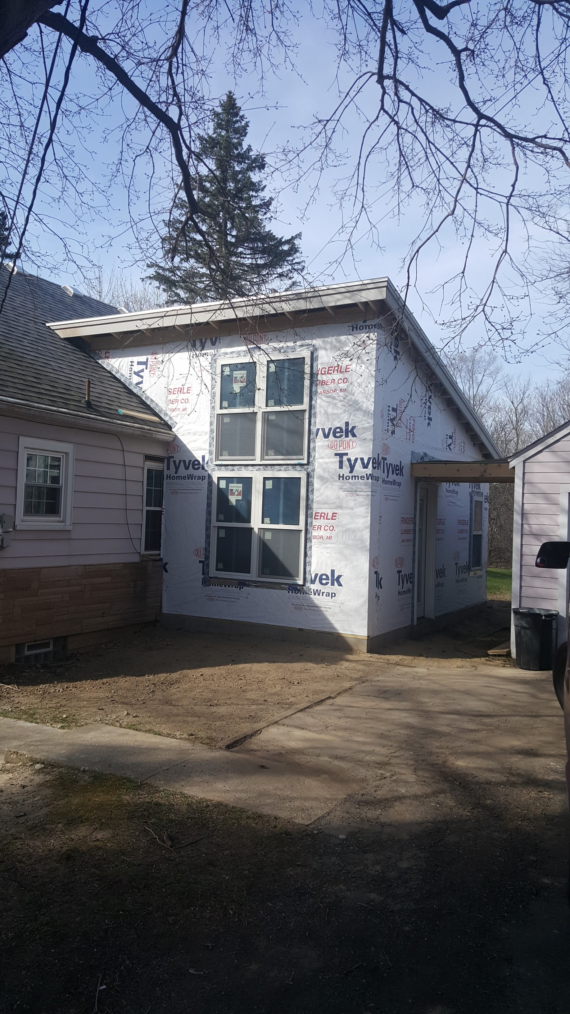 Current Addition Project, Ready For Siding